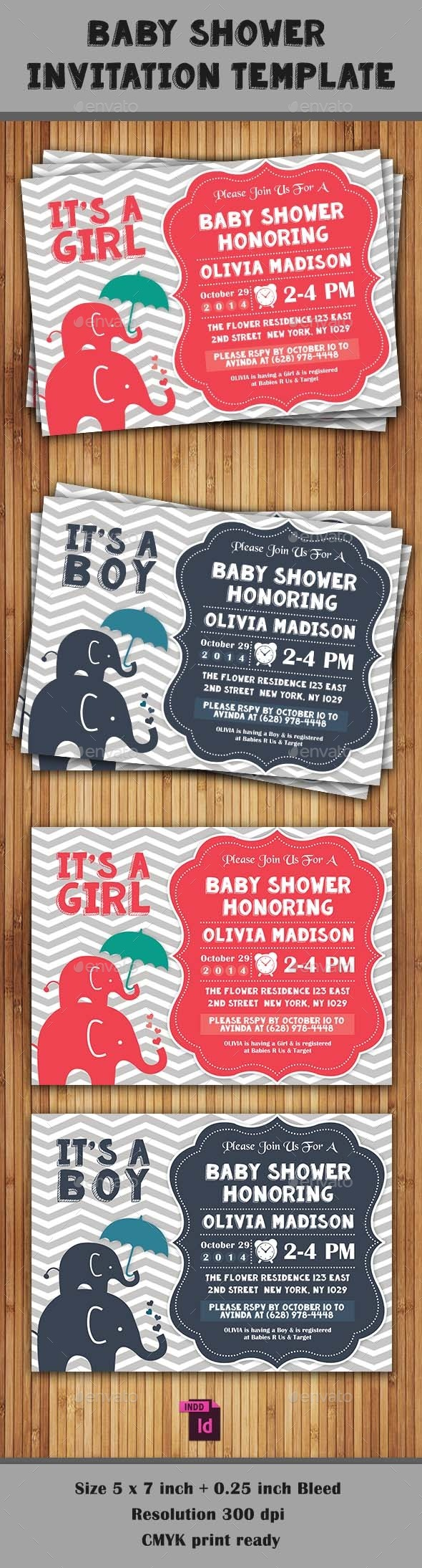 GraphicRiver Baby Shower Template Vol 8 9290939