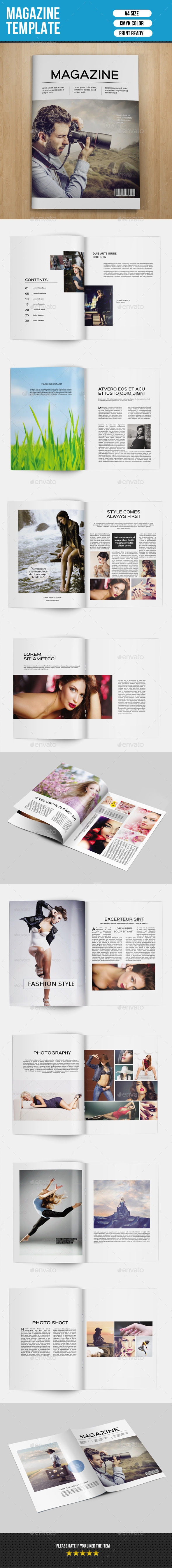 GraphicRiver Minimal Magazine Template-V01 9291042