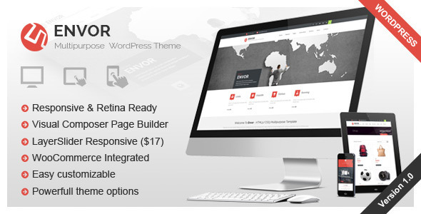 ThemeForest Envor Fully Multipurpose WordPress Theme 9251688