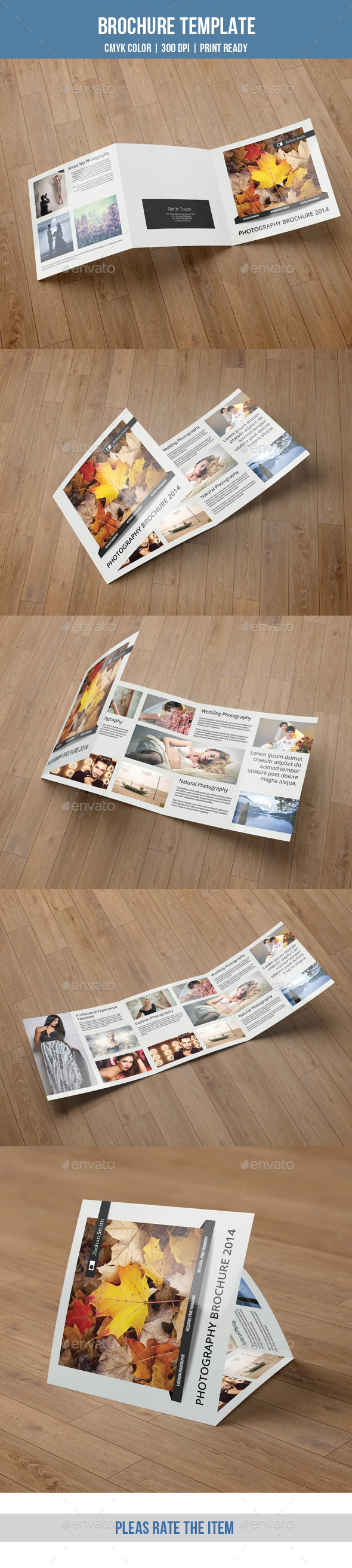 GraphicRiver Minimal Square Trifold Photography Brochure-V44 9291051
