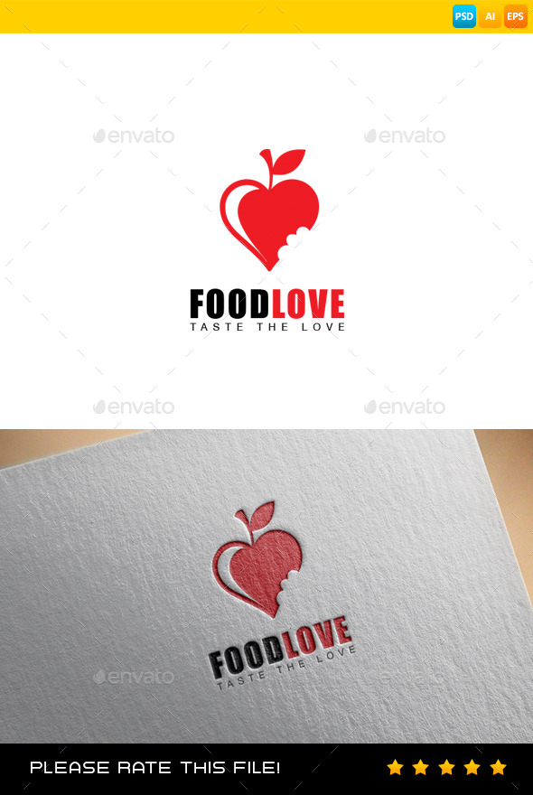 GraphicRiver Food Love Logo 9291086