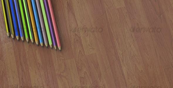 Detailed Pencils Set - 3DOcean Item for Sale