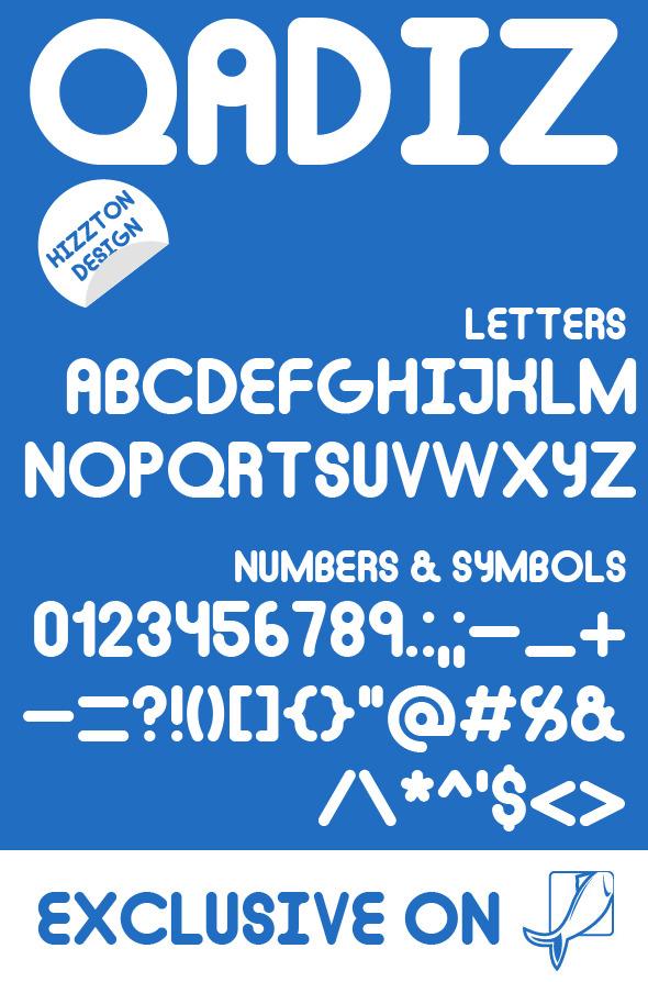 GraphicRiver Qadiz Premium Font 9291104