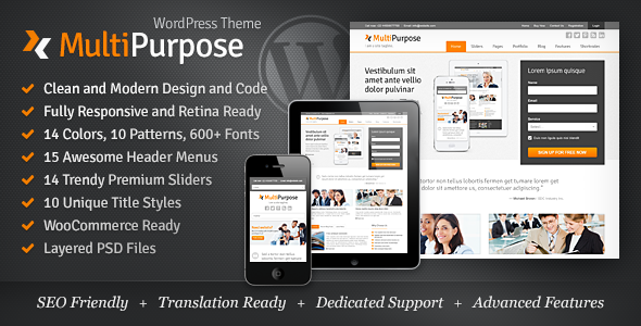 ThemeForest MultiPurpose Responsive WordPress Theme 9219359