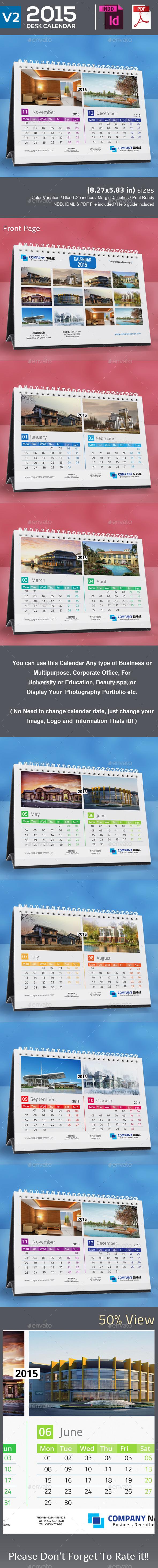 GraphicRiver 2015 Desk Calendar V2 9291425