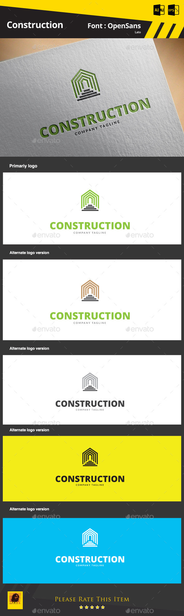 GraphicRiver Construction Logo Template 9291430