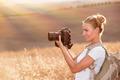 Happy photographer enjoying nature - PhotoDune Item for Sale