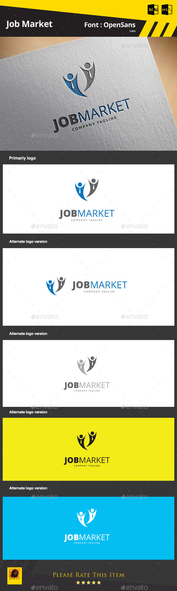 GraphicRiver Job Market Logo Template 9291607