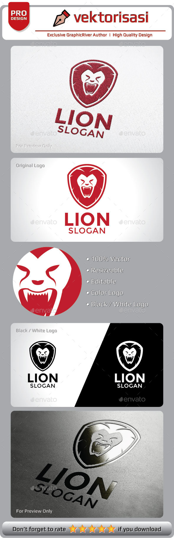 GraphicRiver Lion Logo 9291608