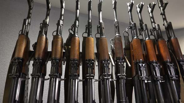 Armory Room and Soviet Automatic Rifle