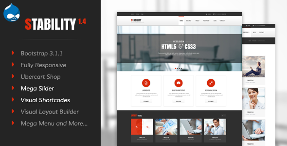 Stability - Responsive Drupal 7 Ubercart Theme - Business Corporate