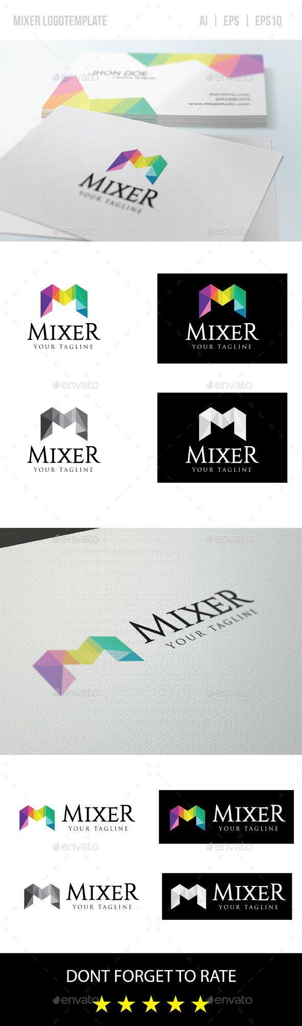 GraphicRiver Mixer Letter M Logo Template 9292017