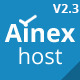 Ainex Host WHMCS WordPress Integration Theme - ThemeForest Item for Sale