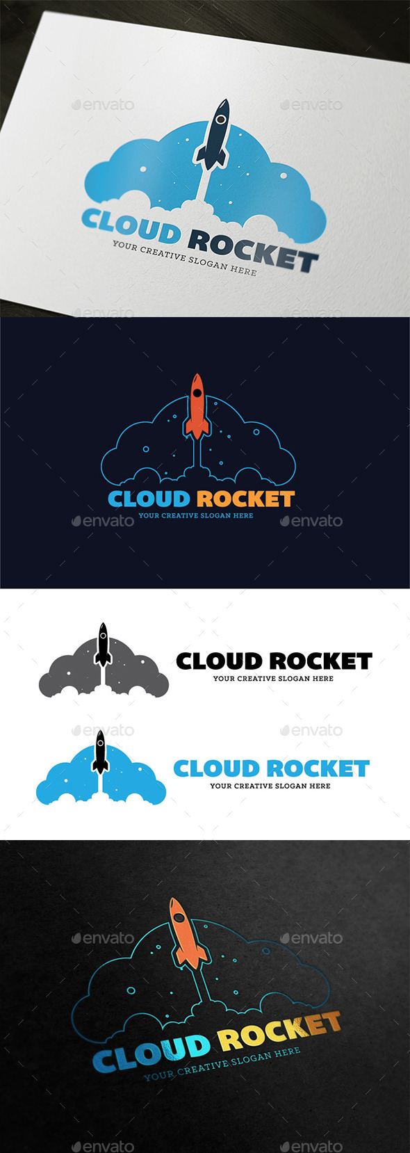 GraphicRiver Cloud Rocket 9292328