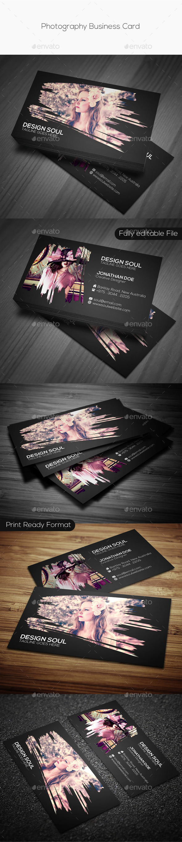 GraphicRiver Photography Business Card 9259529