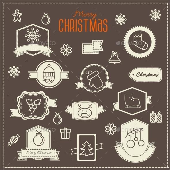 GraphicRiver Christmas Decoration Vector Design Elements 9292649