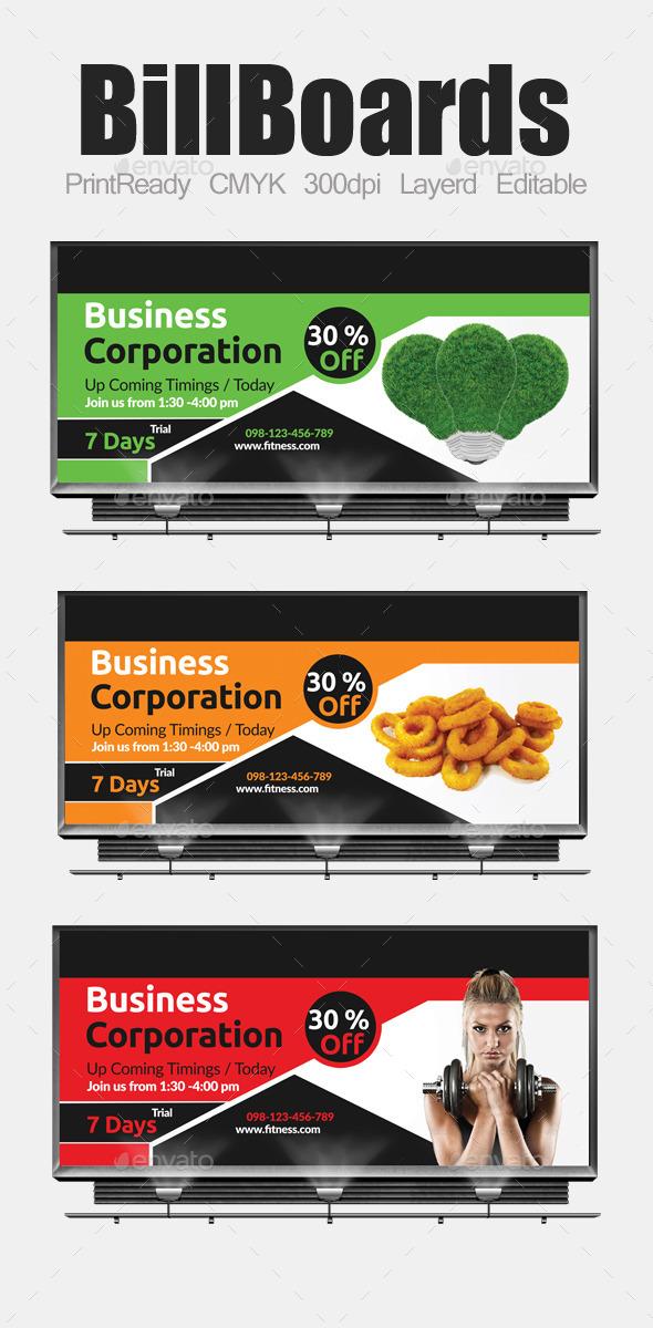 GraphicRiver Multi Purpose Business Billboard Template 9251793