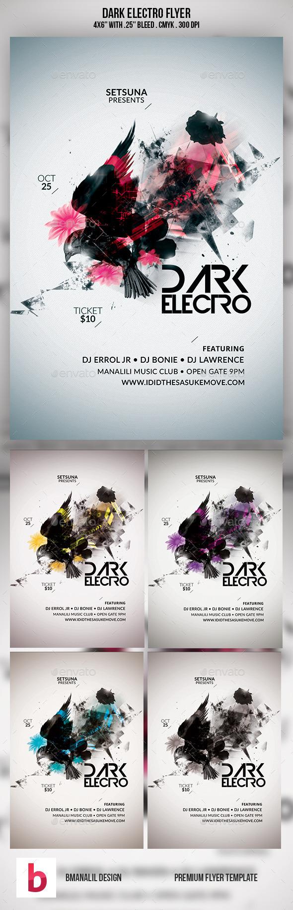 GraphicRiver Dark Electro Flyer 9254638