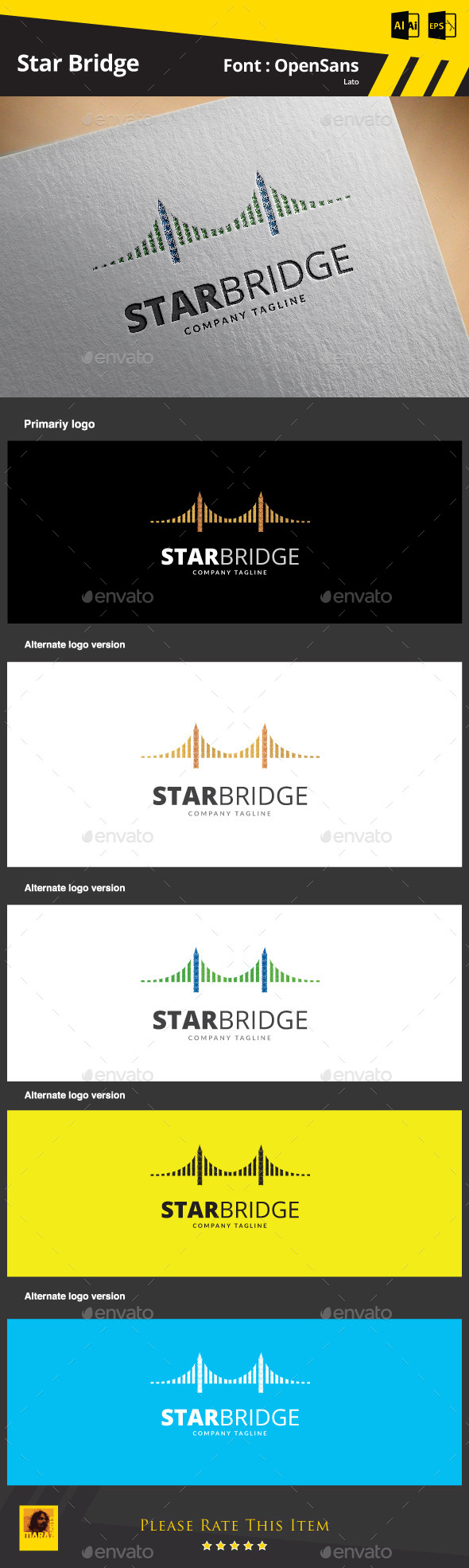 GraphicRiver Star Bridge Logo Template 9292782