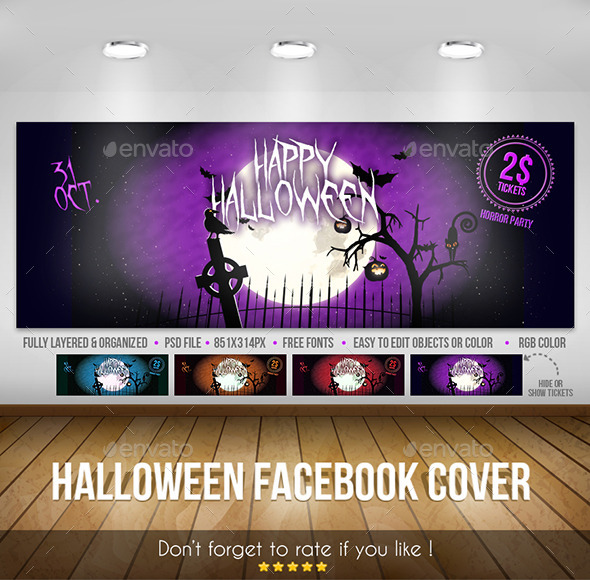 GraphicRiver Halloween Facebook Cover 9292824