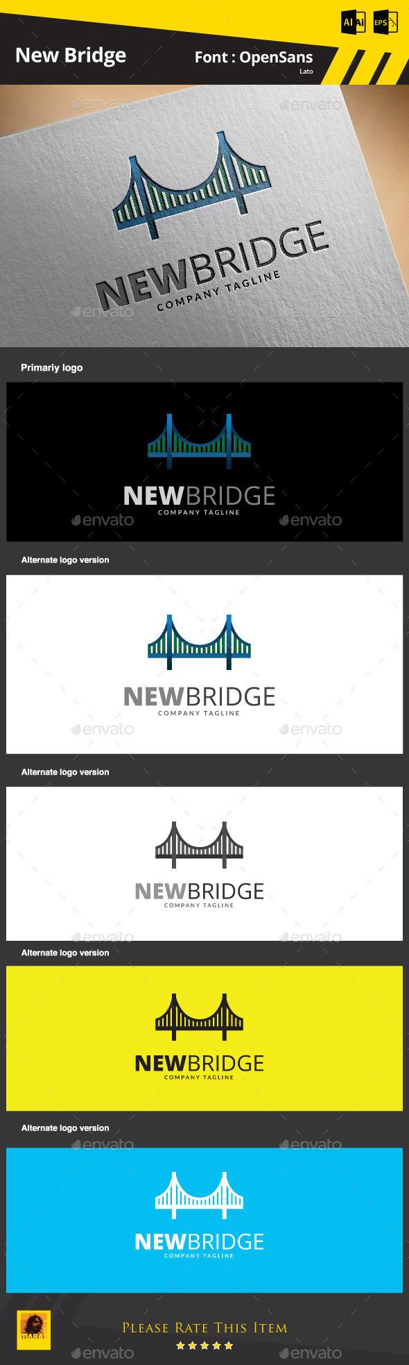 GraphicRiver New Bridge Logo Template 9292851