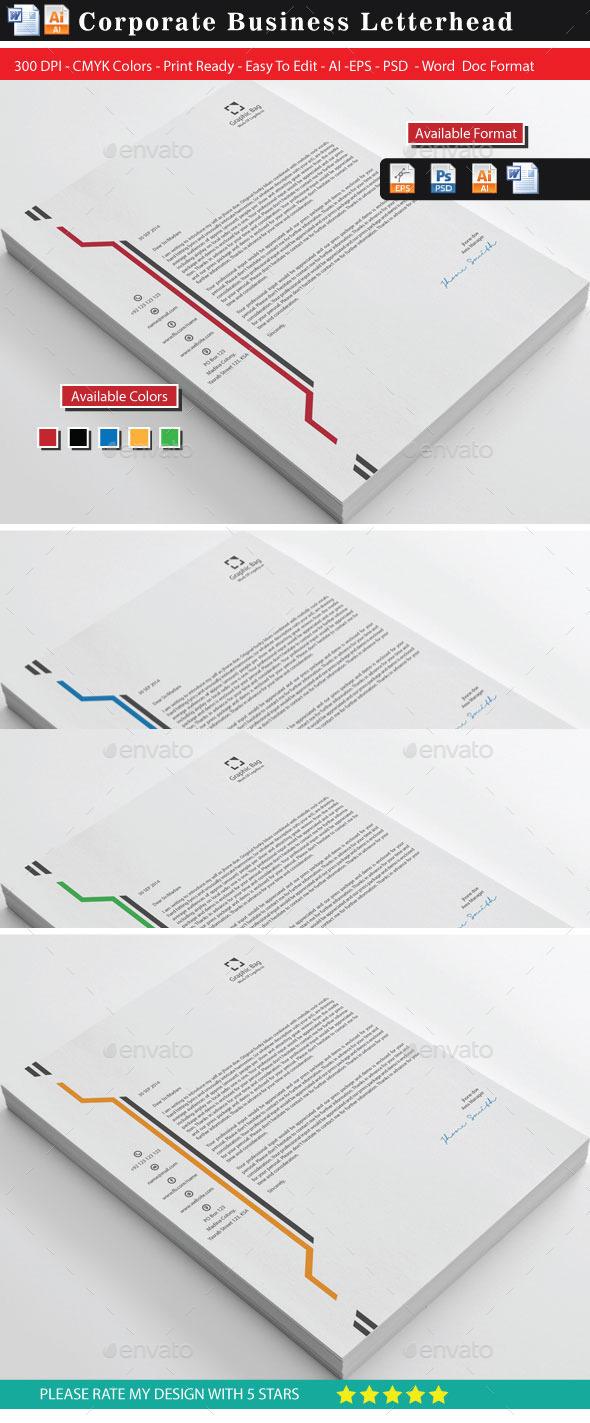 GraphicRiver Graphic Bag Business Letterhead 9293382