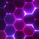 Hex Pattern Colourful Wave Abstract VJ Loop