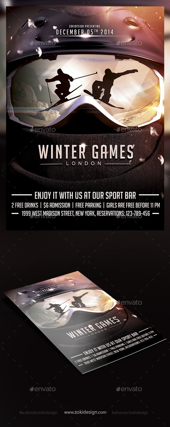 GraphicRiver Winter Games Flyer 9293482