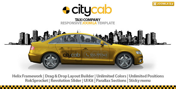 ThemeForest CityCab Taxi Company Responsive Joomla Template 9293488