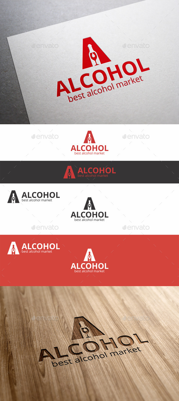 GraphicRiver Alcohol Market A Letter Logo 9293532