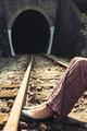 Woman on railway road - PhotoDune Item for Sale