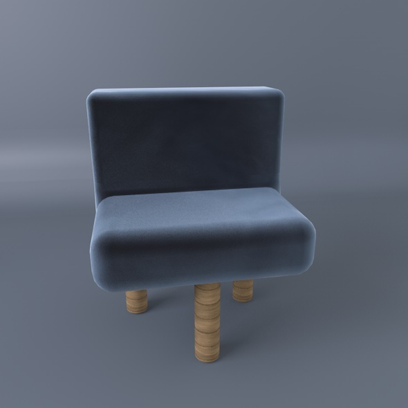 3DOcean Three Legs Comfy Chair 9293538