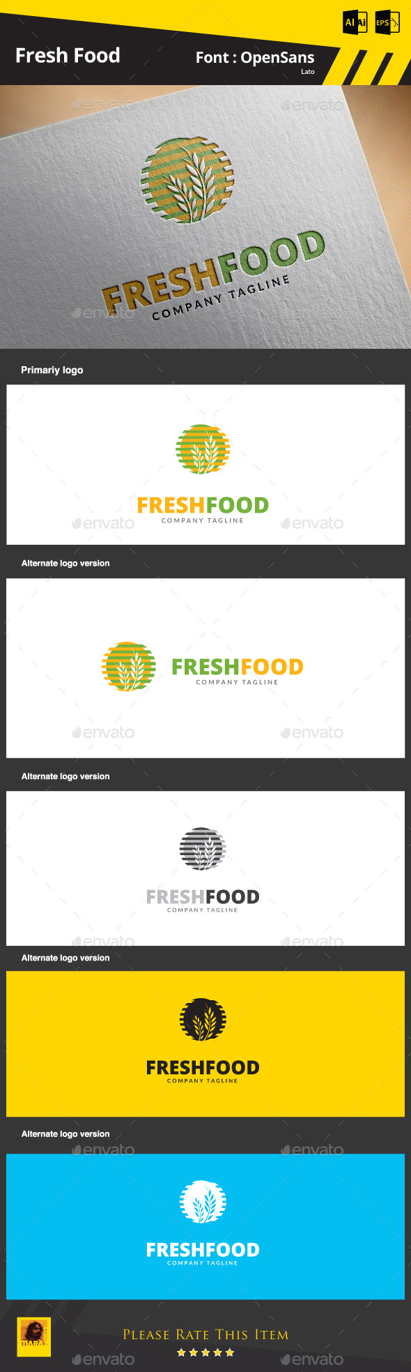 Fresh Food Logo Template
