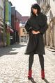 Women in wool jacket on a street - PhotoDune Item for Sale