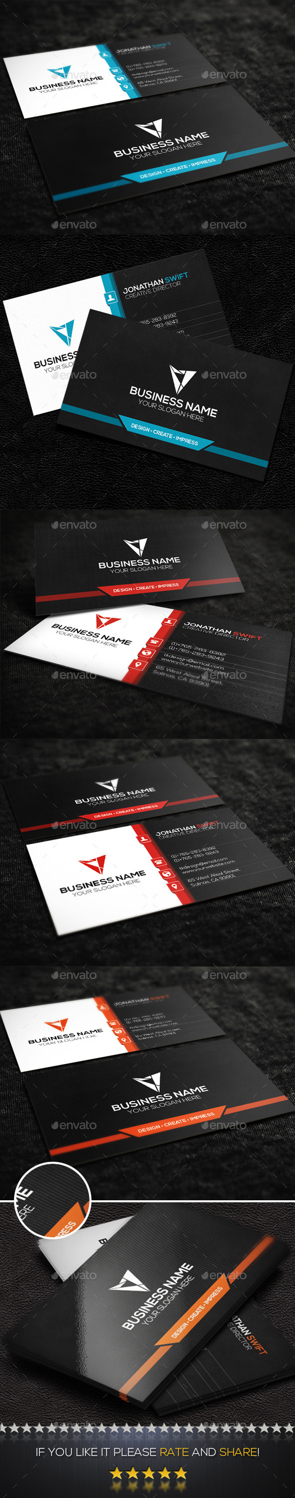 GraphicRiver Modern Corporate Business Card No.03 9293879