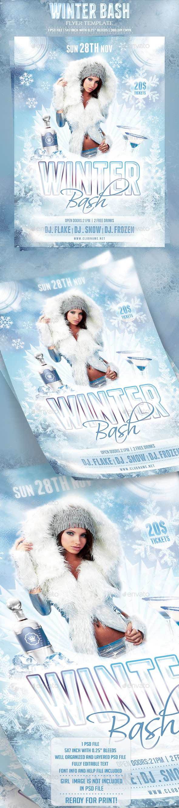 GraphicRiver Winter Bash Flyer Template 9264261