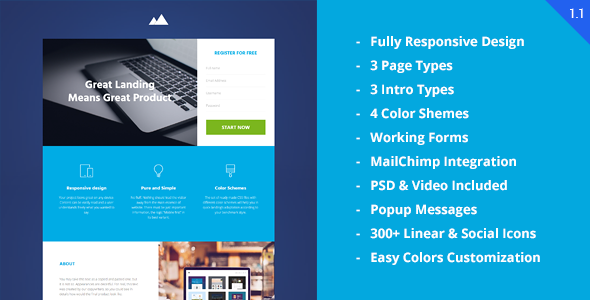 Download Revenue - Startup Landing Page nulled download