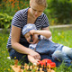 Mother And Son Spending Time On The Lawn - VideoHive Item for Sale
