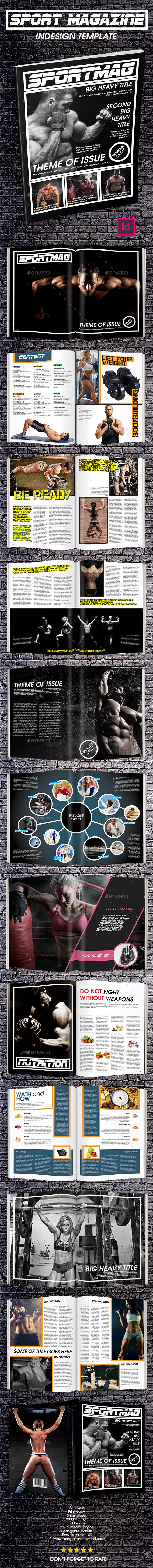 GraphicRiver Sport Magazine Template Issue Two 9294141