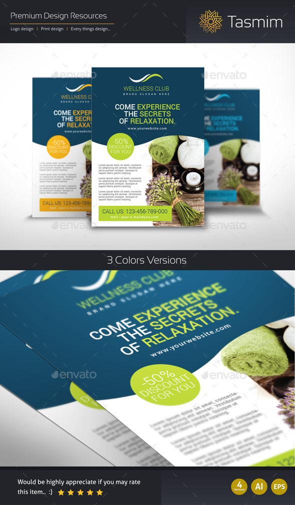GraphicRiver Wellness Club Flyer Template 9294255