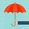 Insurance agent holding umbrella - PhotoDune Item for Sale