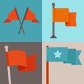 Set of flag design elements - PhotoDune Item for Sale
