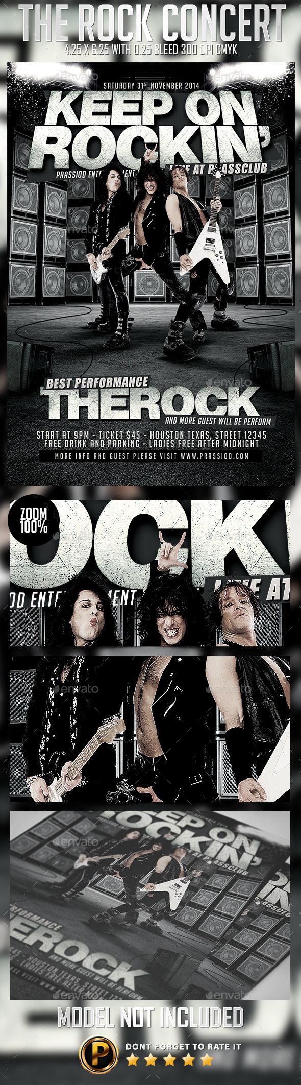 GraphicRiver The Rock Concert Flyer Template 9259451