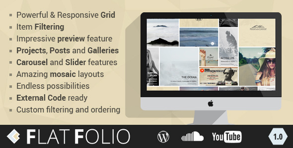 Get in Touch Improve and expand your site possibility and invent your cool and impressive pages. FlatFolio creates an amazing Grids, Carosels and Sliders from P