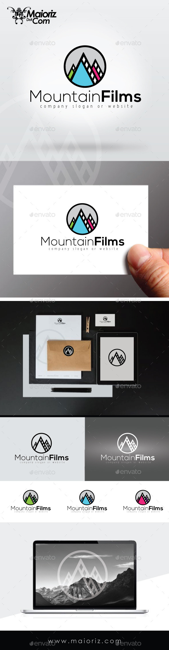 GraphicRiver Mountain Films Logo Template 9294389