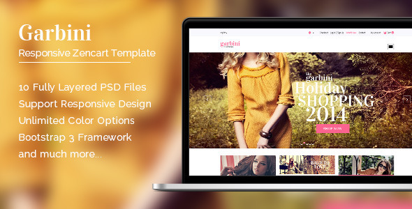 ThemeForest Garbini Stylish Zencart Responsive Theme 9259595