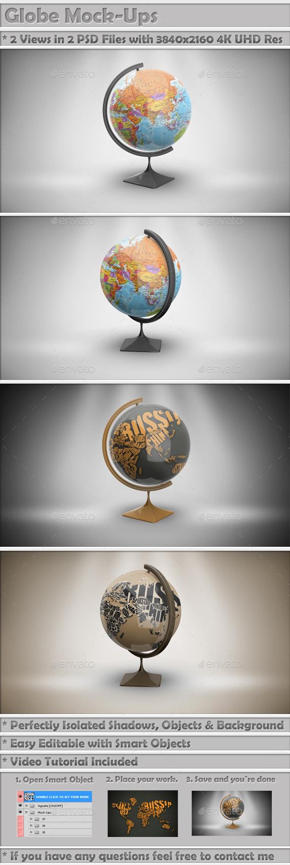 GraphicRiver Globe Mock-Up 9294670