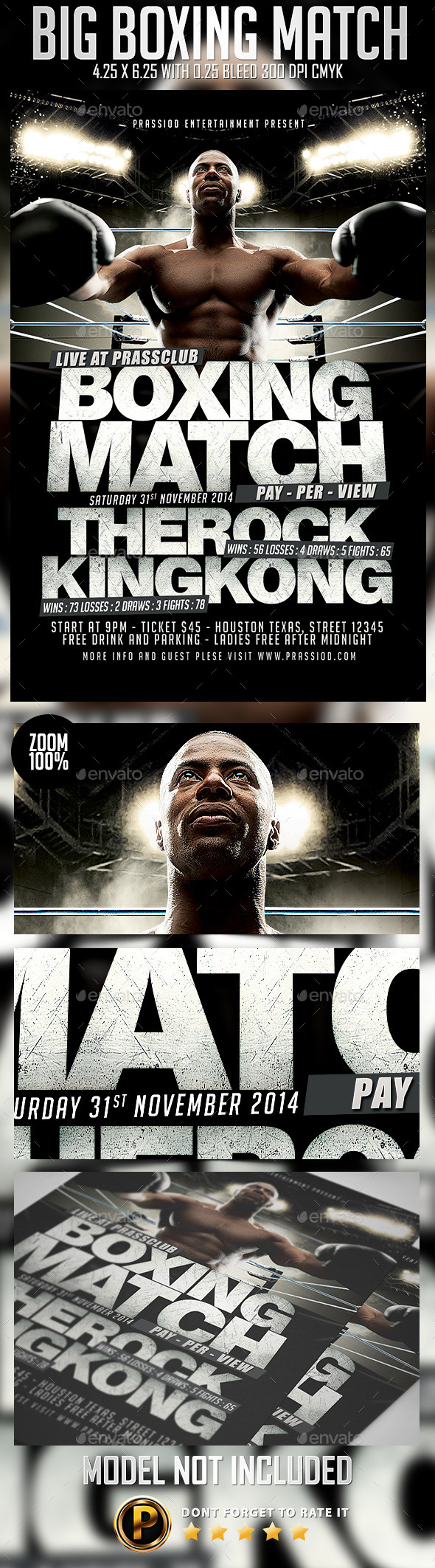GraphicRiver Big Boxing Match Flyer Template 9264517