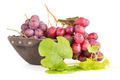 Fresh red grapes in wood bown - PhotoDune Item for Sale