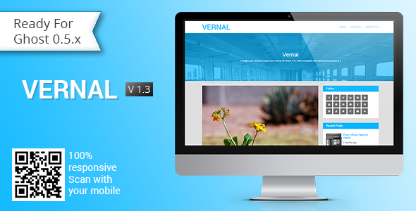 Vernal - Responsive Multipurpose Ghost Theme - Ghost Themes Blogging